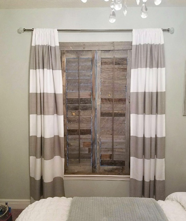 New Brunswick reclaimed wood shutter bedroom