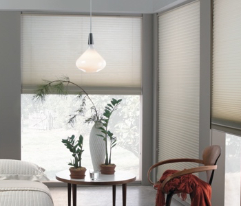 honeycomb shades in New Brunswick space