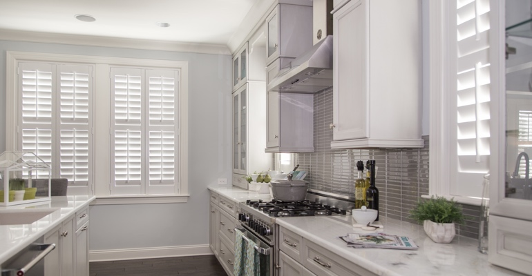 New Brunswick kitchen white shutters