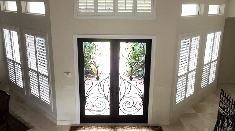 New Brunswick foyer plantation shutters