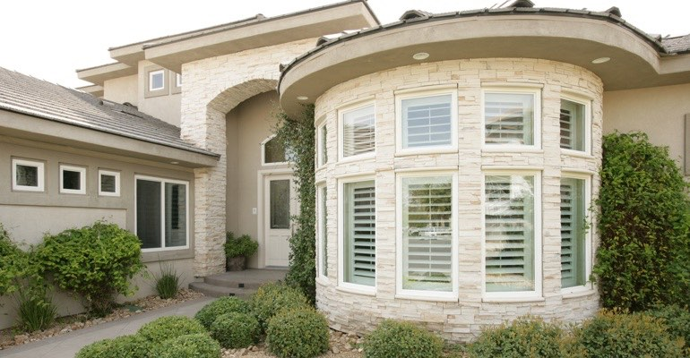 Exterior shutters New Brunswick home