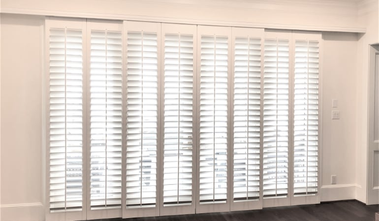 Interior Shutters The Ultimate Patio Door Window Treatment In New Brunswick Sunburst Shutters