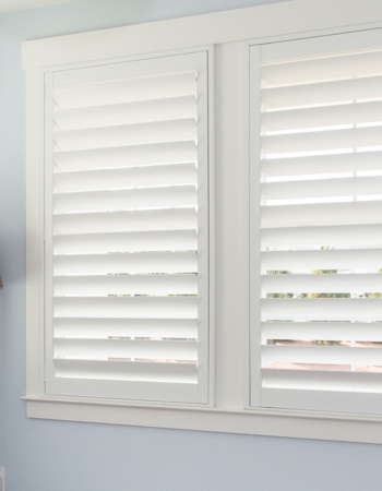 Polywood shutters with hidden tilt rods in New Brunswick