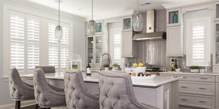 Kitchen Window Treatment Ideas Sunburst Shutters New Brunswick