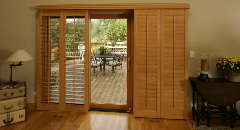 New Brunswick wood shutter sliding door