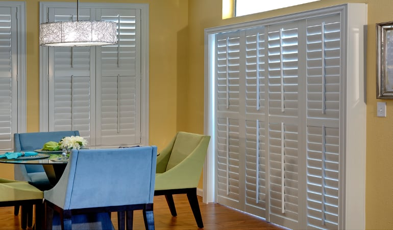 Patio Doors with Plantation Shutters in New Brunswick