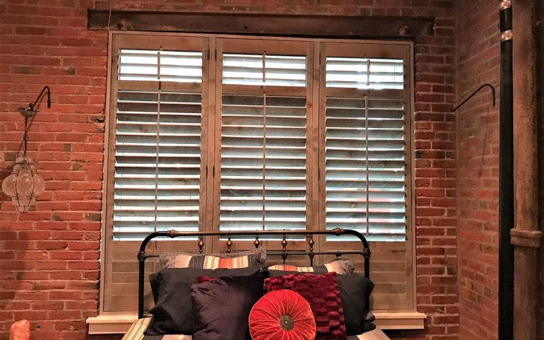 Repurposed Wood Shutters In New Brunswick Apartment