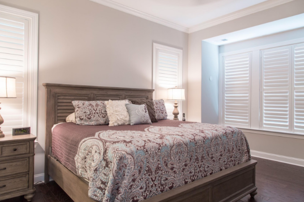 New Brunswick bedroom with light block shutters