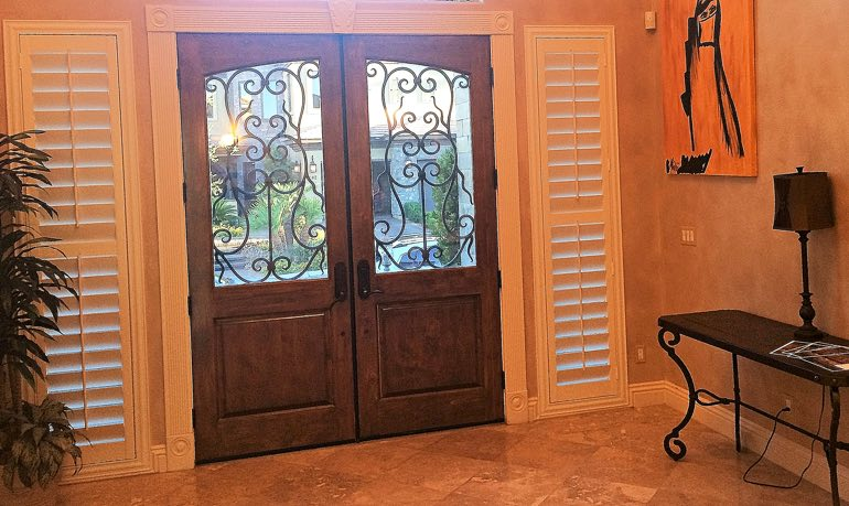 New Brunswick foyer door with shutters