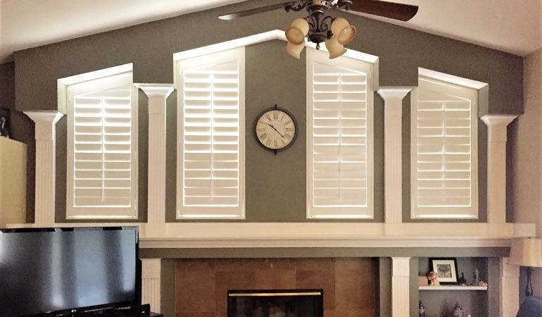 Polywood Shutters in Family Room in New Brunswick