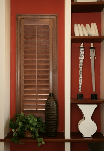 New Brunswick wood shutter shelving