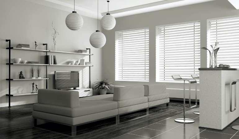 white blinds in New Brunswick