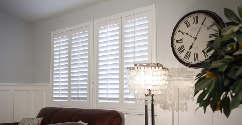 New Brunswick living room white shutters
