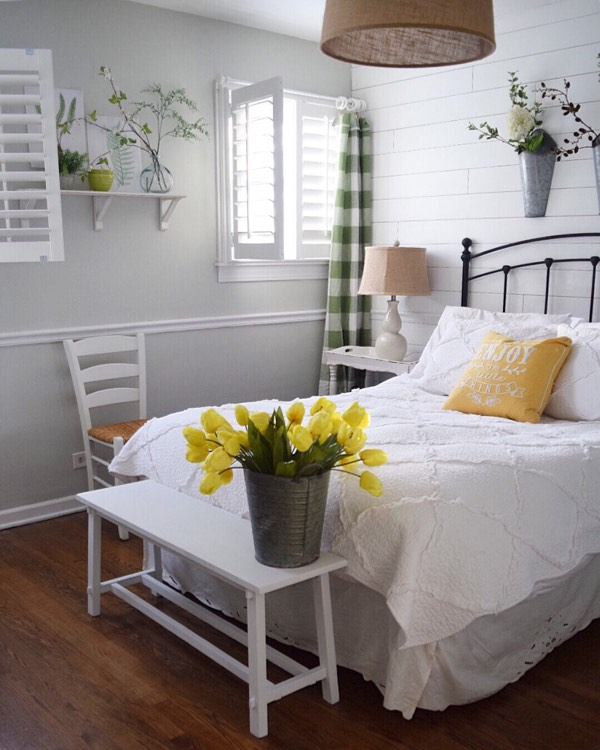 New Brunswick cottage bedroom shutters