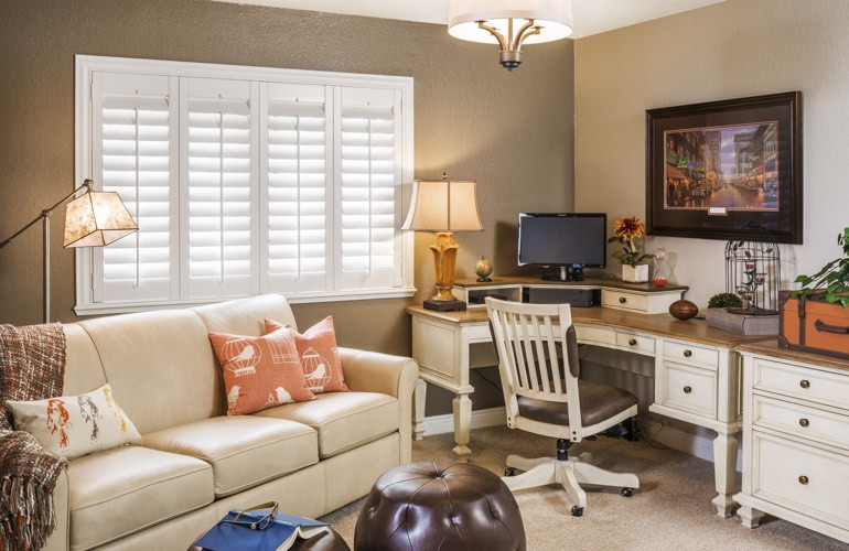Home Office Plantation Shutters In New Brunswick