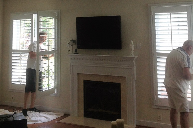 New Brunswick shutter installation