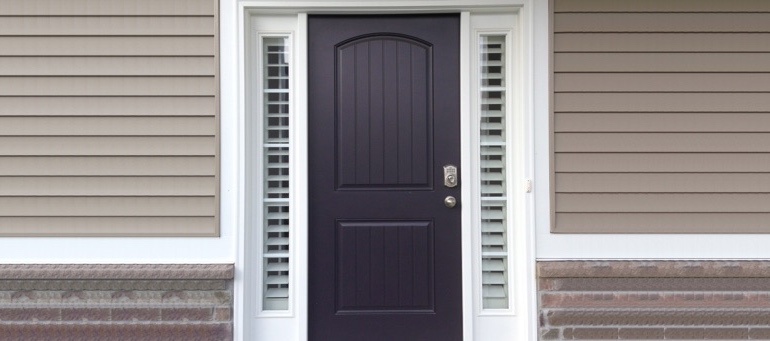 Entry Door Sidelight Shutters In New Brunswick, NJ